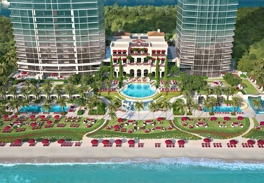 Acqualina aerial view rendering