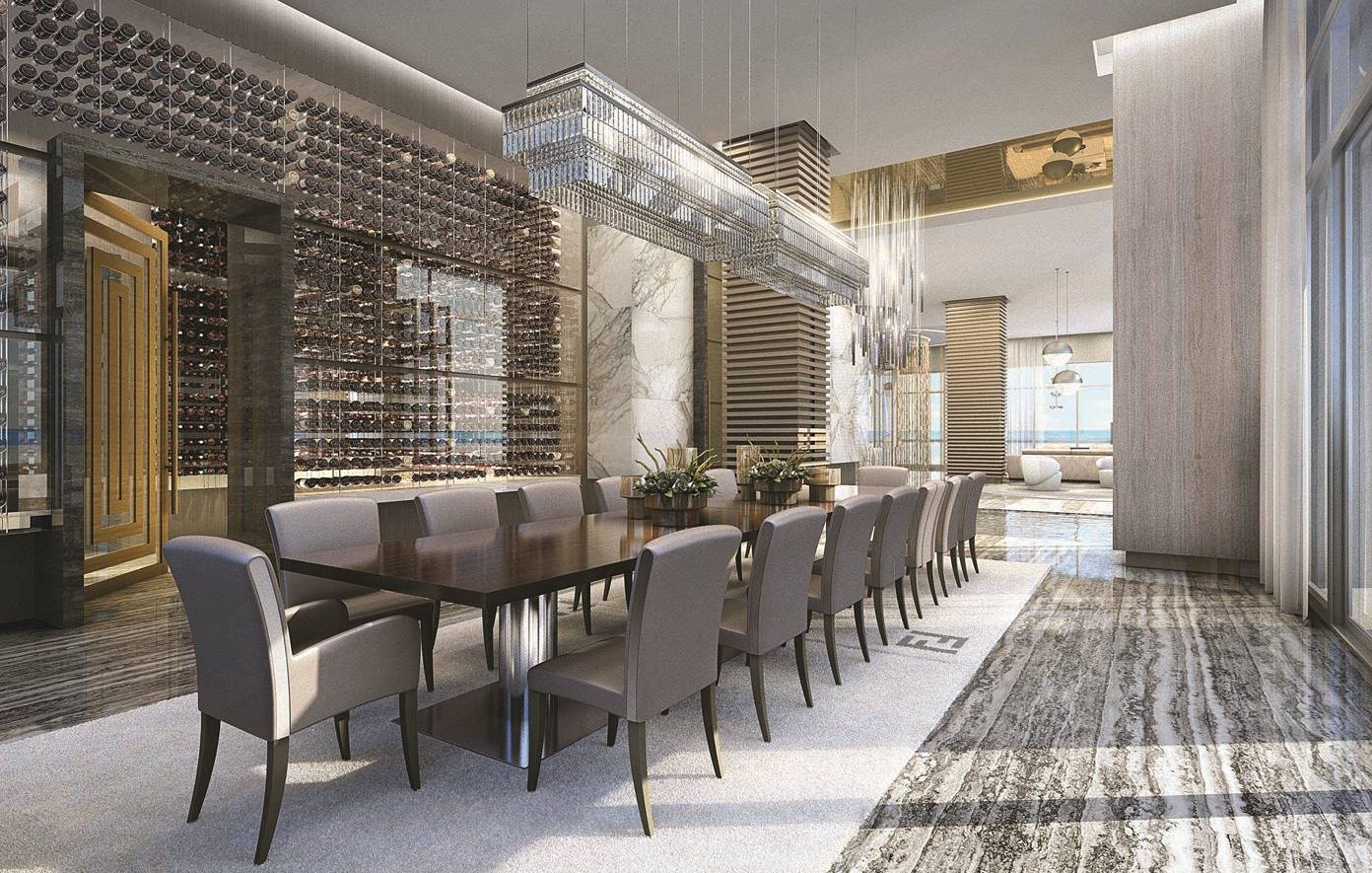 Interior rendering of the Mansions at Acqualina