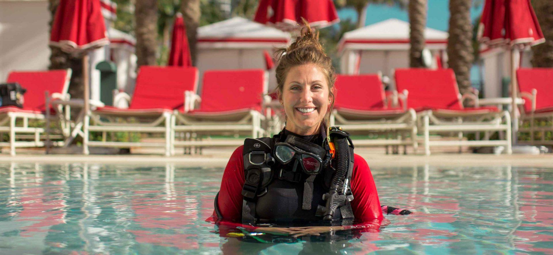 PADI scuba diving lessons with Squalo Divers in Miami, Florida.