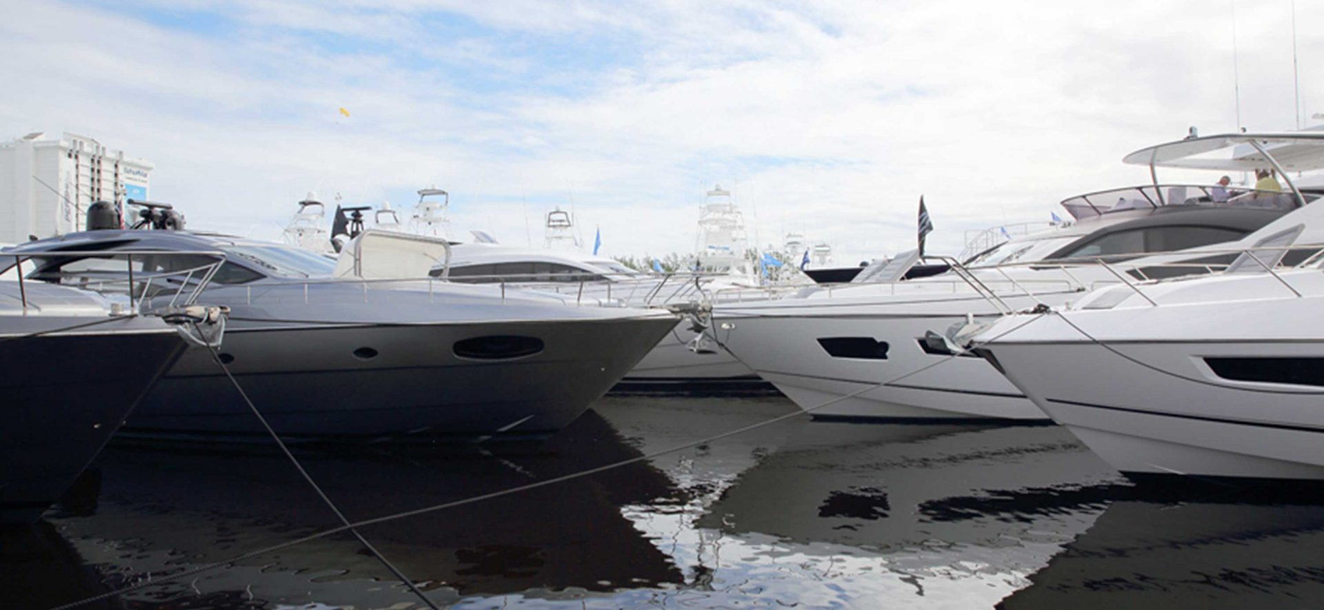Yachts at the Fort Lauderdale International Boat Show.