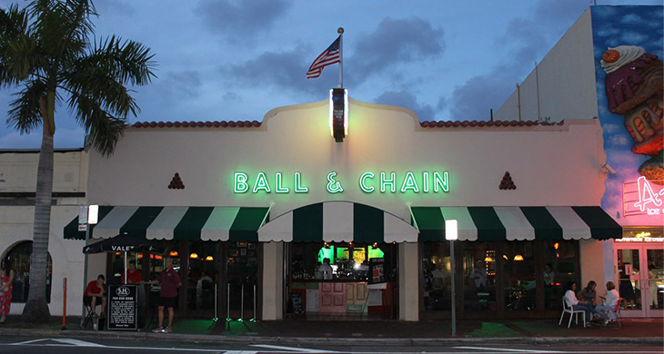 Ball & Chain on Calle Ocho in Miami, Florida